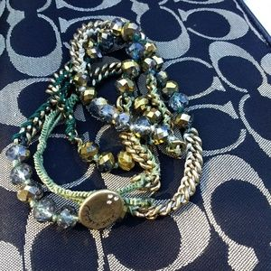 Chloe + Isabel wrap bracelet glass bead and thread